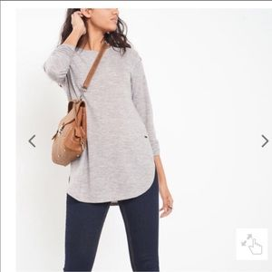 Roots Canada Jules Heather Gray Long Sleeve Large